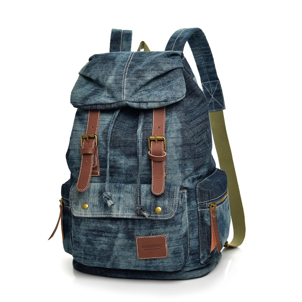 2019 Fashion High Quality Brand Men and Women Backpack denim Travel Backpack Multifunctional Bags Male Laptop