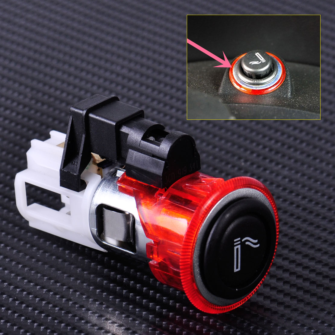 Costlyseed Car Cigarette Lighter Assembly For Seat Leon Vw Polo Fuse Box Citall 1j0 919 307 9b9 Fit Beetle Golf Gti Tiguan Jetta