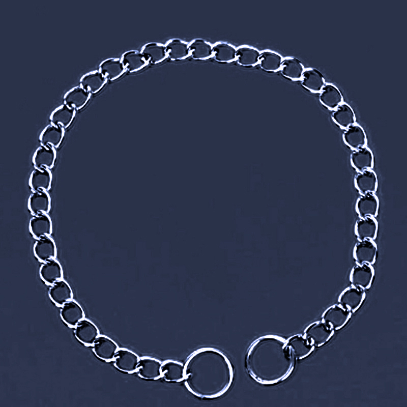 Pet Dog Accessories Fashion Dog Button Shape Metal Necklace All Match Season S / M / L