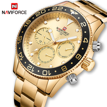 NAVIFORCE Top Luxe Merk Mannen Sport Horloges mannen Quartz 24 Uur Datum Klok Man Fashion Casual Gold Waterdichte Wirst horloge