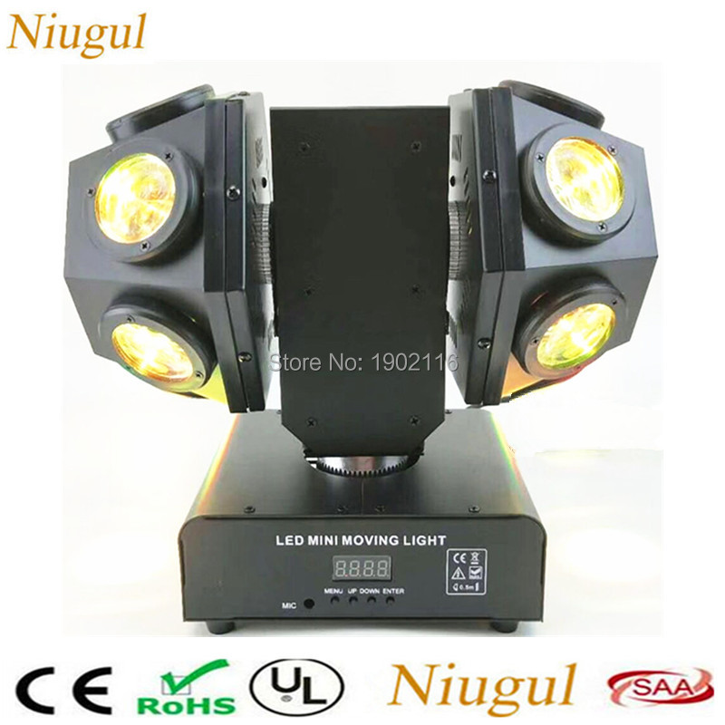 12x10W LED Moving Head Double Arms Beam Stage Light 4 In1 RGBW for DJ Disco Bar DMX/Auto/sound LED Rotate Moving head light