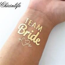 1Pcs Team Bride Temporary Tattoo Bachelorette Party bride tribe Flash Tattoos  Bridesmaid gift bridal shower wedding decoration