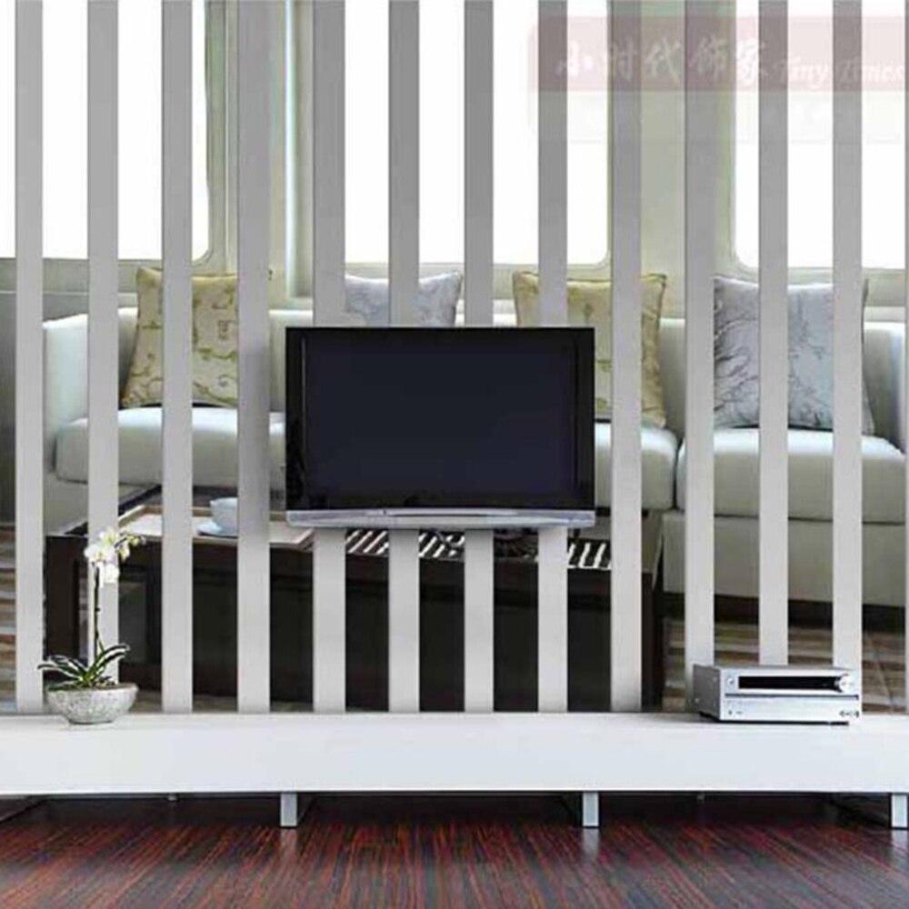 Funlife(TM) 10 шт., длинные прямоугольные зеркальные наклейки на стену, съемный домашний декор, современная акриловая Наклейка на стену, фон для телевизора|mirror wall stickers|wall stickerhome decor | АлиЭкспресс