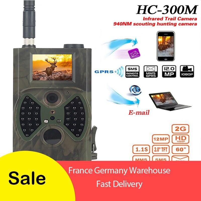 HC300M 12MP 1080P 940nm Trail Câmeras GPRS MMS Câmera Caça Scouting Câmeras Hunter photoTraps Night Vision Câmera Da Vida Selvagem