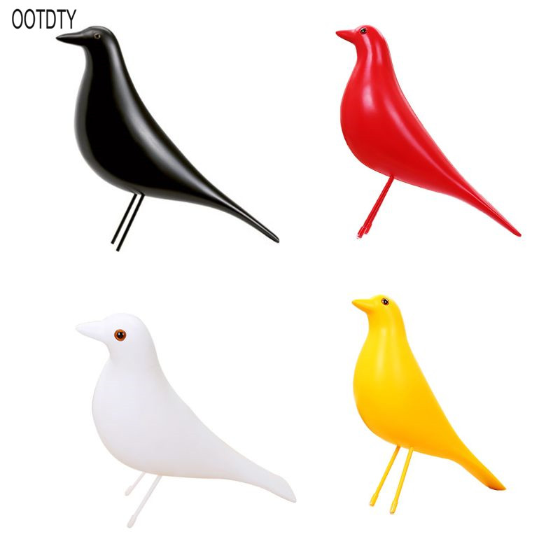 OOTDTY Europe Resin Bird Figurine Peace Dove Statue Home Office Mascot Furnishings Decoration Crafts Christmas Wedding Gift