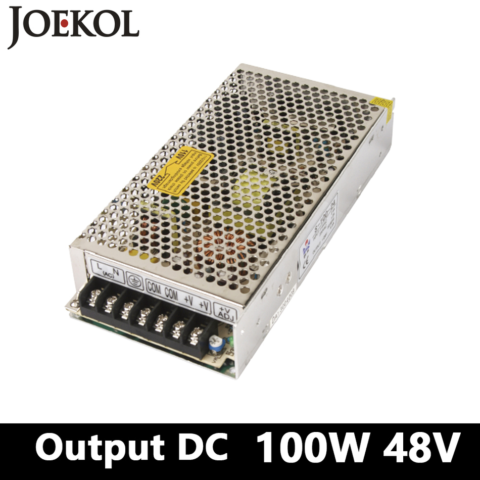 switching power supply 100W 48v 2A,Single Output ac-dc converter for Led Strip,AC110V/220V transformer to DC 48V,led driver ac 110 220v to dc 12v 30a 360w power supply led driver transformer adapter 12v 220v converter for 5050 3528 3014 led strip light