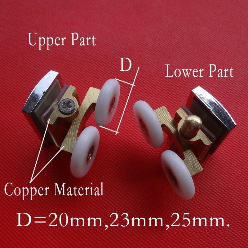 shower door rollers runners rollers wheels pulleys 20mm 23mm 25mm