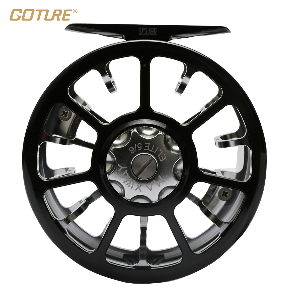 Goture Aluminum Alloy Fly Fishing Reel ELITE 5/6 All Metal CNC Super Light Saltwater Left Right Hand Coil Pesca Carretilha 2+1BB care of you f03448