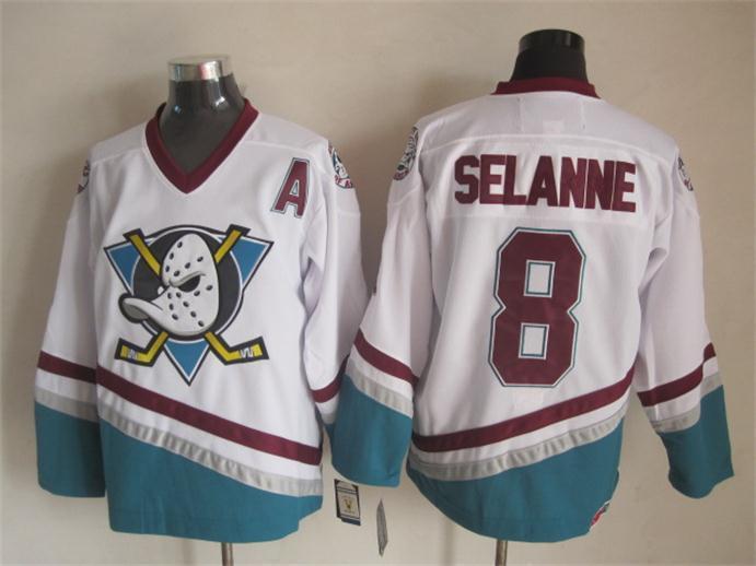 a923252c2f9 Cheap Authentic Teemu Selanne Jersey Anaheim Ducks Jersey Selanne Mighty  Ducks Green Vintage Throwback 8 Hockey Jerseys Stitched-in Hockey Jerseys  from ...
