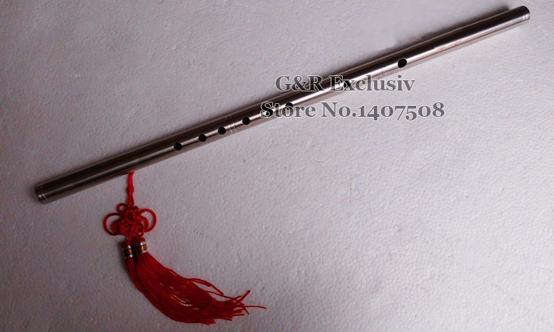 Китайская флейта трубы из нержавеющей стали Dizi поперечный музыкальный инструмент Металл Flauta самообороны оружие ручной работы в G Key