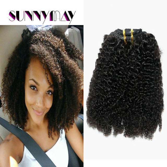 Sunnymay 8a Brazilian Virgin Human Hair Clip In Hair Extensions Afro