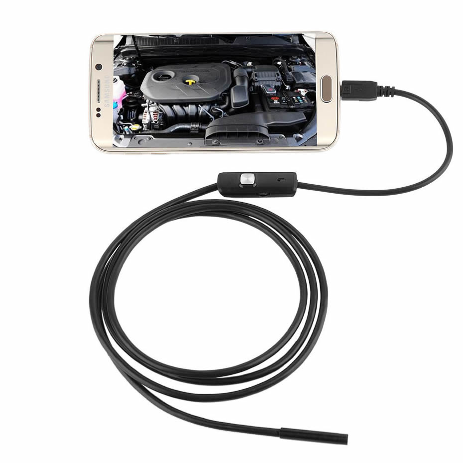 Wsdcam Waterproof Endoscope Camera with USB Interface and 6 LED Light for Android/iOS Phone 2
