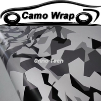 Adhesive Black Grey White Camouflage Film Vinyl CAR Wraps With Air Bubble Vehicle Motorcycle Sticker Decal Body Wrapping
