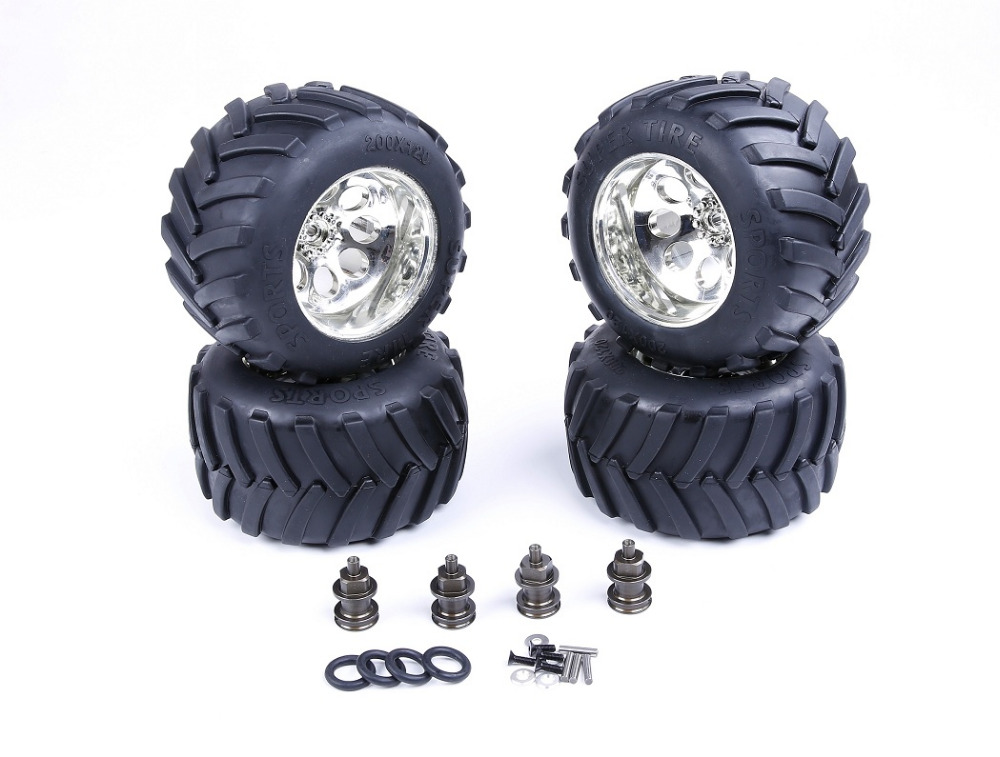 modified BM TRUCK TYRES SET fit for 1/5 losi 5ive-T rovan lt slt baja 4wd rc car parts losi parts losi front absorber shock set 2pcs set for losi 5ive t free shippings