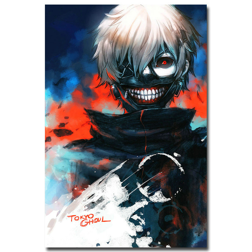 Tokyo Ghoul Japanese Anime Art Silk Fabric Poster Canvas Print 12x18 24x36 inch