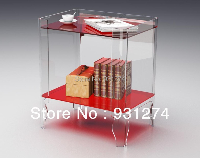 Acrylic night stands Bedside cabinet Coffee tables with magazine rack Living room furniture set  Patio bedroom Office desk led light up bar table glowing night club furniture living room rechargeable luminous coffee tables