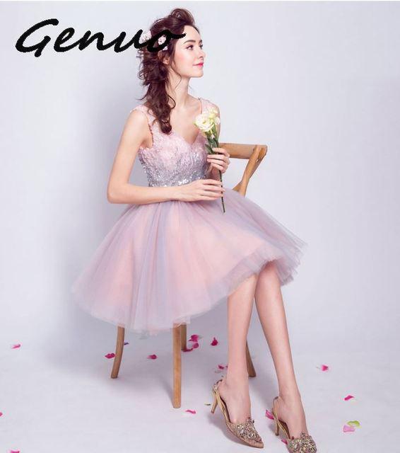 Genuo New 2019 Women Summer Sexy Off Shoulder Backless Dresses Female Irregular Neck Solid Color Elegant Split Dress 5980 1