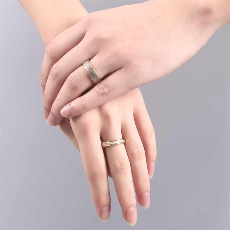 65b163bc91 ... V.YA Couple Customized Gold Rings Stainless Steel Engraved Rings New  Style DIY Name Rings