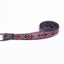 Newest Style 1PC 46.5-74cm length Adjustable Nylon Ukulele Strap Belt Sling With Hook For Ukulele Guitar Top Selling Flower