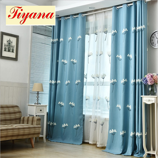 window curtain set decorative dandelion luxury curtain drapes fancy living  room blackout embroidered plants curtain su049 *15-in curtains from home &