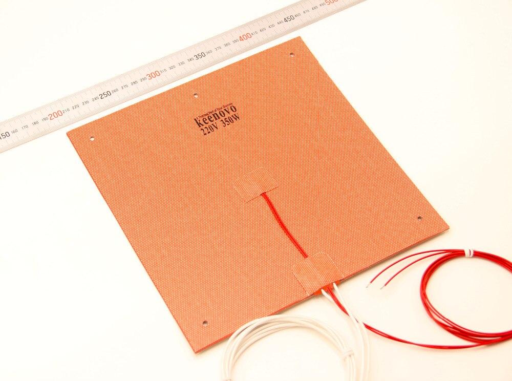 Keenovo calentador 245x245mm 350W @ 220 V para ultimaker clon CL260 3D impresora cama calentada, construir Placa de elemento de calefacción
