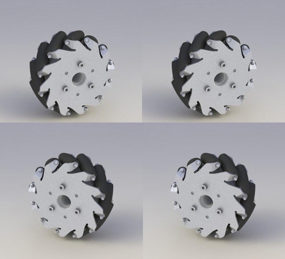 A Set of 5 Inch 127mm Light Load Type Mecanum Wheel (Mecanum Wheel) 14193 Wheel Omnidirectional