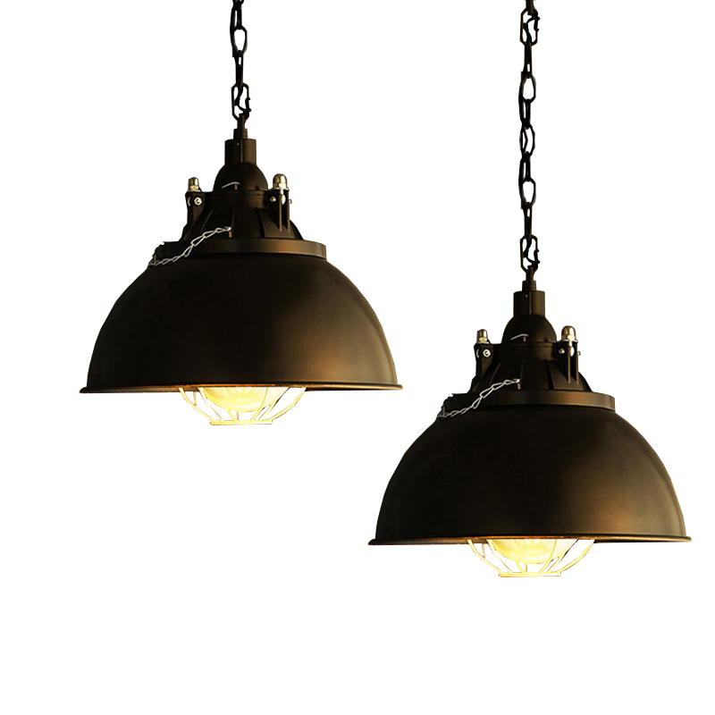 American Retro pendant lights luminaire lamp iron Industrial vintage led pendant lighting fixtures Bar Loft Restaurant e27 black new loft vintage iron pendant light industrial lighting glass guard design bar cafe restaurant cage pendant lamp hanging lights