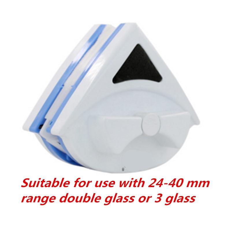 창 유리 청소기 도구 더블 사이드 24 40 미리메터 더블 레이어 유리 또는 3 레이어 유리 자기 청소 브러시 유용한 표면 브러쉬-에서청소용 솔부터 홈 & 가든 의  그룹 1