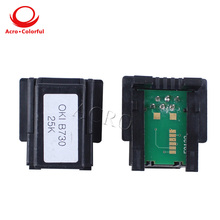 1272001Compatible black laser printer cartridge chip reset for OKI B730 toner chip