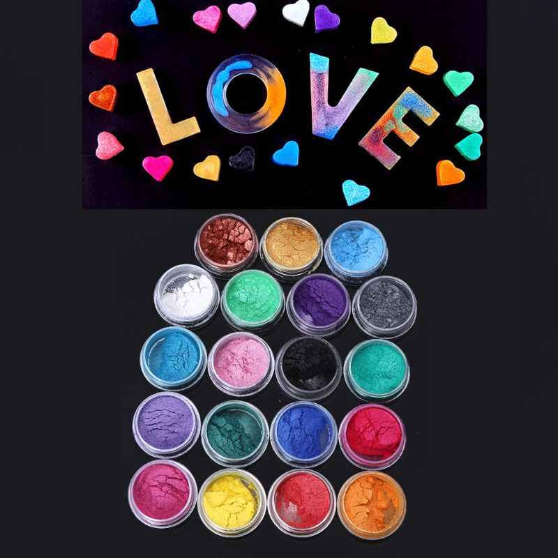 Resina joyería colorante tinte Mica perla pigmento polvo superfino resina tinte artesanía