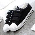 Nueva Moda 2016 Del Otoño Del Resorte de Las Mujeres Casuales Zapatos de Plataforma Alta Zapatos de Lona Transpirable Zapatos de Encaje Hasta Para Damas Mujer B236