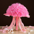 Wedding Bouquet 2017 New Artificial  Bridesmaid   White Foamflower Satin  Flowers   Brooch  Bridal Bouquets