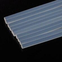 10 шт. 7 мм x 190 мм 7 мм x 100 мм термоклеевые палочки для электрического клеевого пистолета Инструменты для ремонта альбомов для легированных аксессуаров