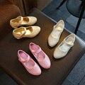 Vestido da menina da criança shoes 2017 outono meninas de couro shoes crianças meninas sapatos de salto alto partido diamante princesa shoes crianças sapatos de salto alto