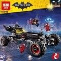 Lepin 07045 genuino película de superhéroes serie el conjunto móvil de bloques de construcción ladrillos super hero batman robbin juguetes