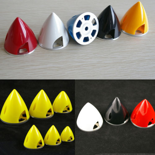 1 Piece 1.5 1.75 2 2.25 2.5 2.75 3 Plastic Prop Spinner With Aluminum Back RC Airplane Spinner