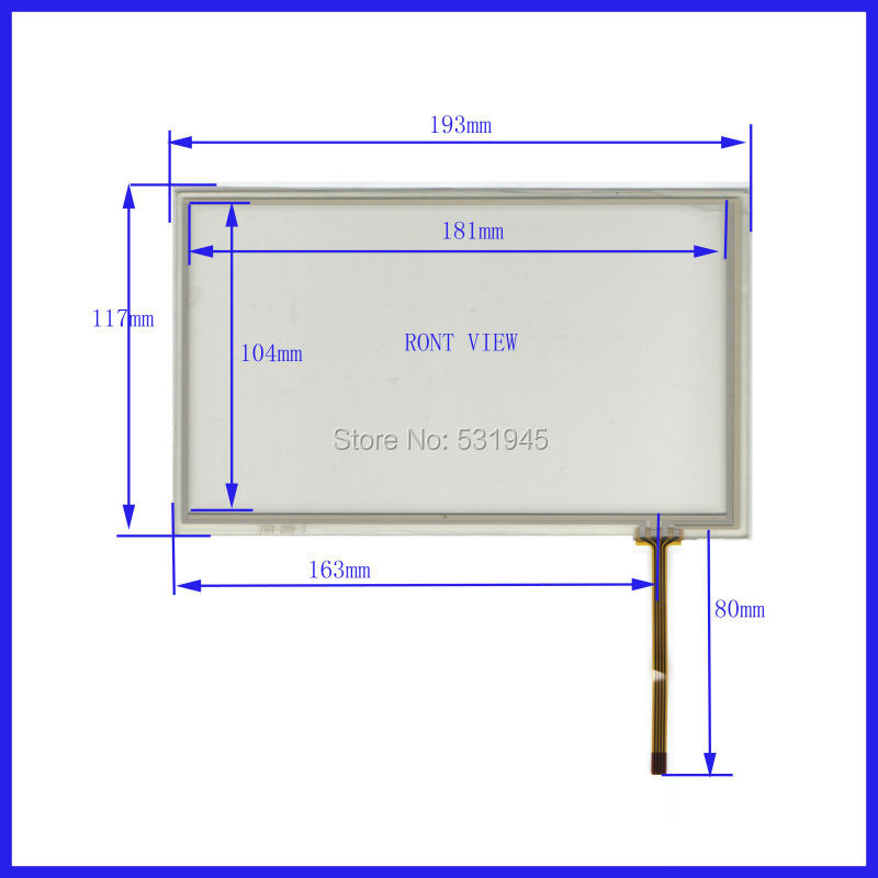 POST 8 inch 4-wire resistive Touch Panel   JXH287 193*117 compatible Navigator TOUCH SCREEN  193mm*117mm GLASS LCD  display  цены