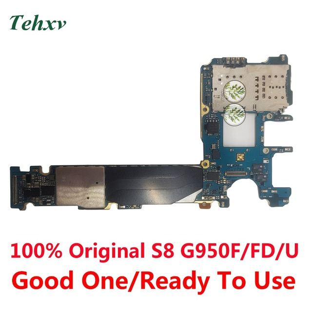 US $65 55 5% OFF|Tehxv For Samsung Galaxy S8 G950F G950FD G950U 64GB  Motherboard Original Unlocked With Chips IMEI Android OS Logic Board-in  Mobile