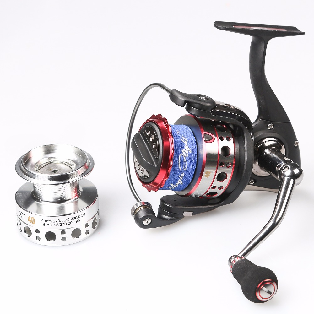 цена на 7+1BB Spinning Reel Fishing Wheel 5.1:1 Ball Bearings Fresh Water Seawater Anti-Corrosion Carp Fishing Reel Metal Spool OK4000
