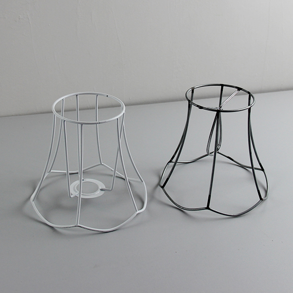Lampshade modern lamp cover loft industrial edison metal wire frame 6pcs dia15cm lampshade frames diy e14 clip on greentooth Images