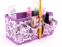 Foldable Stationary Container Makeup organizador watch box basket Cosmetic Storage Box Organizer box makeup organizers Women Bag(China)