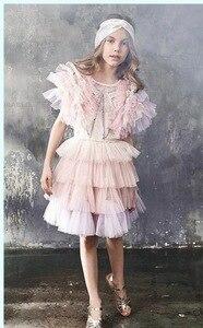 Image 3 - Chaleco de niña para vestido de fiesta de boda, tutú suave, capa de princesa para niños, 80 140cm, E81229