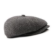 e39ee1930c7c6 Sombreros de Chapeau completamente cerrados sólidos para los viejos hombres  sombreros de orejeras Retro sombrero de boina de lan.