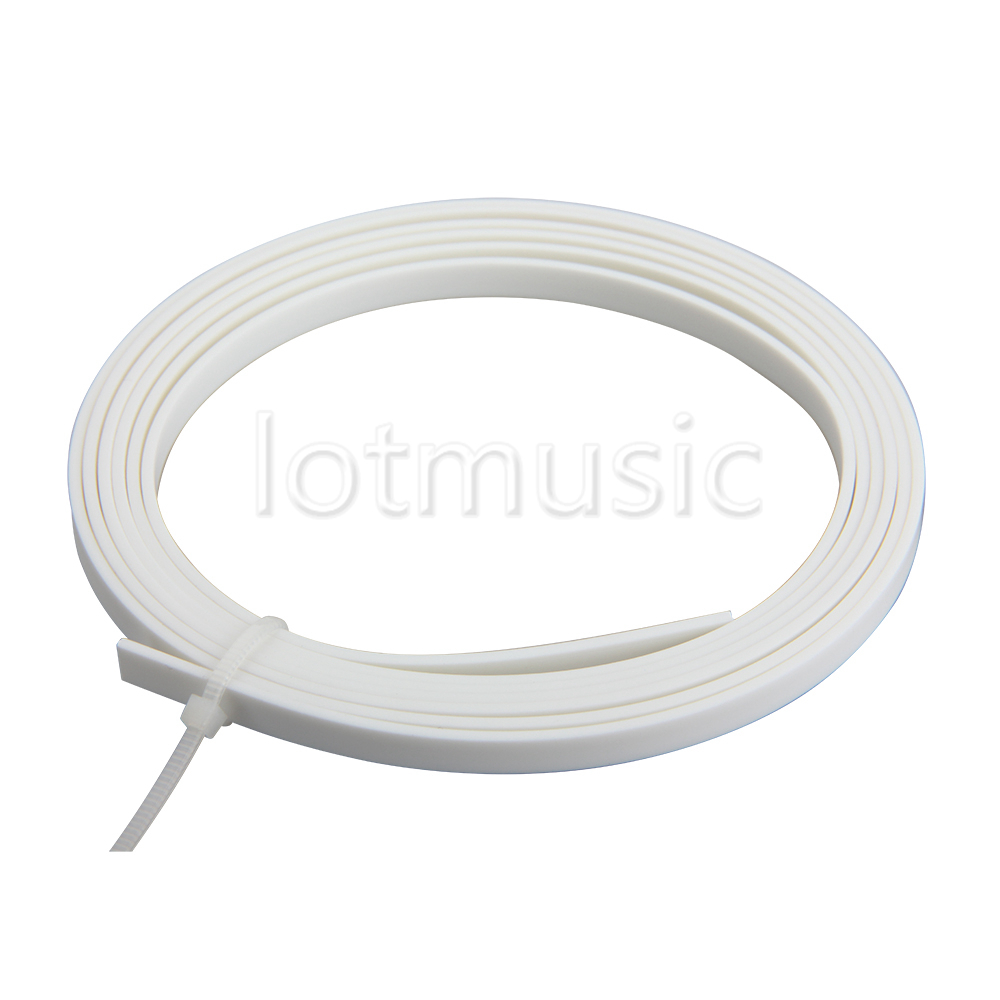1pcs White ABS Guitar Binding Purfling Luther Supply 1650mmX4mmX1.5mm