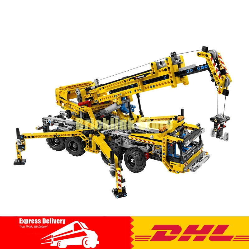 IN STOCK Lepin 20040 1392Pcs Technic Mechanical Series The Moving Crane Set Educational Building Blocks Bricks Toys Model Gift 5pcs relief headache red tiger head menthol balm refreshing vietnam gold tower tiger balm q3