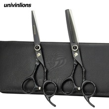 univinlions 6 black barber hairdressing scissors razor hairdresser haircut japanese thinning shears salon de ciseaux coiffure