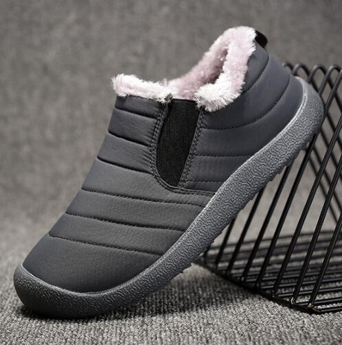 Новые зимние мужские туфли из хлопка плюс бархатные теплые повседневные мужские ботинки V14