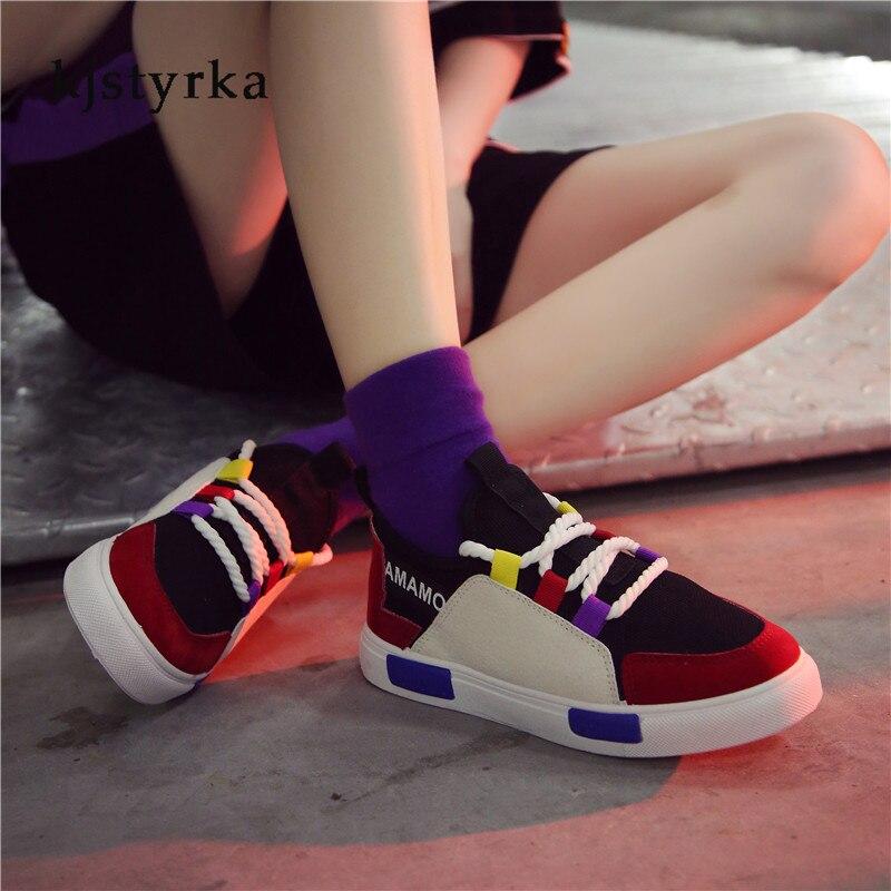 Sneakers Mode Respirant Automne Printemps Plate Chaussures Kjstyrka Couleurs Espadrilles Nouveau Loisirs Bleu Femmes 2019 forme Dame Mixte rouge Footwears blanc zXwXEIx1q