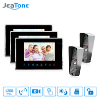 JeaTone Color 7 LCD Touch Key Monitor Video Door Phone Doorbell Intercom System Recording Picture Memory