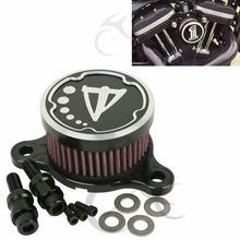 Black Chrome Air Cleaner Intake Filter System Kit For Harley sportster XL 883 1200 04-16 15 Aluminum цены